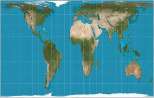 Peters world map